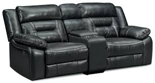 Black Microfiber Loveseat Black Recliner Sofa Sectional Sf 6001 Living Room Furniture Piece
