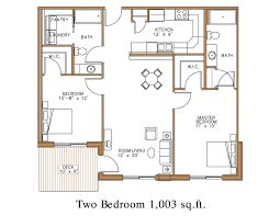 Two Bedroom Floor Plan by Floor Plan At Northview Apartment Homes In Detroit Lakes Great