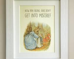 beatrix potter rabbit nursery rabbit quote etsy