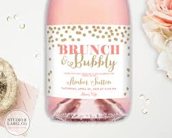 bridal brunch favors bridal shower chagne labels wedding wine labels brunch