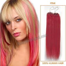 How To Care For Hair Extensions With Micro Rings by Inch Pink Micro Loop Human Hair Extensions 100s