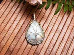 silver wire necklace images Moonstone pendant sterling silver wire wrapped rainbow moonstone jpg