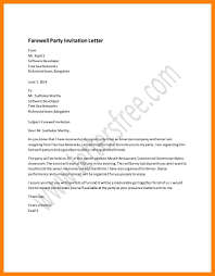 farewell gathering invitation 9 party invitation letters intern resume
