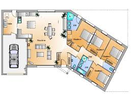 plan maison en l 4 chambres plan maison v 4 chambres