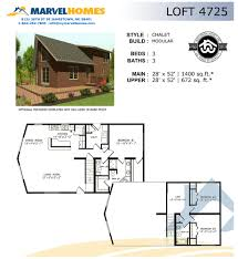 Modular Chalet Floor Plans by Chalet Marvel Homes