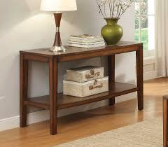 Oak Sofa Table With Drawers Homelegance Antoni Sofa Table With Shelf Warm Brown Cherry 3504