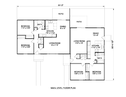 ranch style house plan 2 beds 1 baths 1776 sq ft plan 116 283