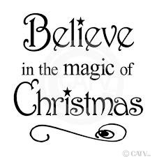 amazon com believe in magic christmas 12x12 vinyl wall art