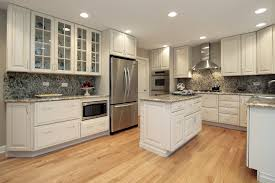furniture elegant kitchens with white cabinets and granite