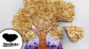 the bronze and gold tree cake diy how to