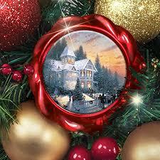kinkade season of splendor lighted wreath