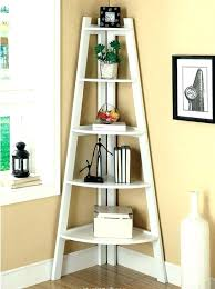 Corner Ladder Bookcase Corner Ladder Bookcase 5 Shelf Corner Ladder Bookcase White Wood