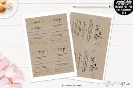 kraft paper wedding invitation set temp design bundles