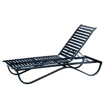Pool Chaise Lounge Tradewinds Scandia Black Commercial Strap Stackable Patio Chaise