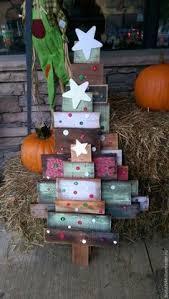 burtonandburton wood slat tree décor with