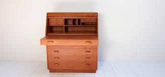 danish modern secretary desk danish writing desk designed by dyrlund smith 1960s design market