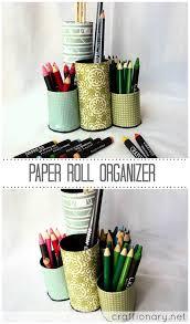 paper roll pencil organizer kids craft idea tutorial pencil