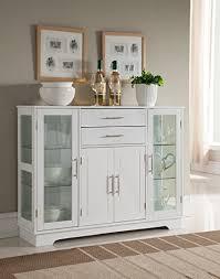 storage furniture for kitchen amazon com brand kitchen storage cabinet buffet with glass