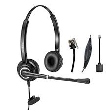 avaya desk phone headset telephone headset dual ear rj9 wired call center headset with noise