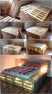 pallets diy pallets wooden made bed plan pallet ideas