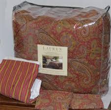 Ralph Lauren Antigua King Comforter Ralph Lauren Edmonton Paisley Queen Comforter Set New 1st Quality