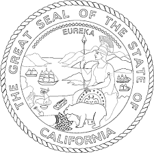california state flag coloring page california flags emblems symbols outline maps