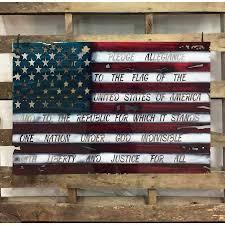 I Pledge Of Allegiance To The Flag Flags Metal Wall Art Michigan Metal Artwork