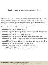 Pmo Manager Resume Sample Pmo And It Portfolio Manager Resume Jeffrey Mansfield 26 Oct2015