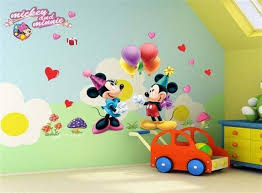 wall decor nursery decor baby mickey minnie mouse balloon wall decals removable sticker kids nursery brand new
