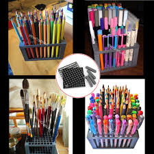 Pen Organizer For Desk Save 67 96 Holes Pencil Holder Brush Pen Desk Stand No Case