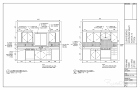 two story home kitchen elevations 2 dimensional b u0026w drawing so