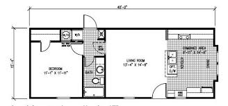 1 Bedroom Cabin Floor Plans 1 Bedroom Mobile Homes Floor Plans Home Plan