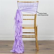 chair sashes chiffon lavender curly willow chair sashes for catering wedding