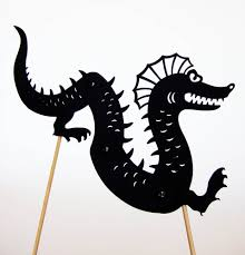 shadow puppets for sale seamonster shadow puppet by owlyshadowpuppets on etsy shadow