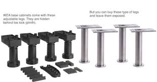 kitchen base cabinet adjustable legs ikea base cabinets come with adjustable black plastic legs