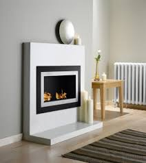 simple bio ethanol wall mounted fireplace decor modern on cool