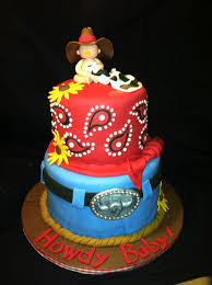 cowboy themed baby shower cake cakecentral com