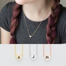 girls personalized necklace images Children 39 s initial necklace kids heart initial necklace girls jpg