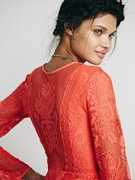 free people reign over me lace dress in orange lyst