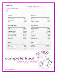 price list template formsword word templates u0026 sample forms
