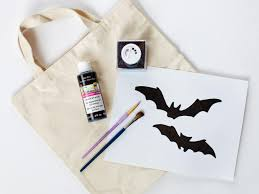 custom halloween bags halloween kids u0027 craft glittered trick or treat bags hgtv