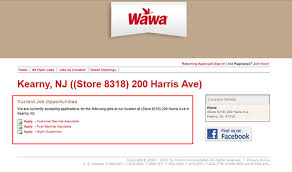 wawa job application apply online