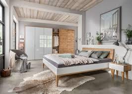 Schlafzimmer Set 140x200 M U0026h Schlafzimmer Set Wildeiche Massiv U0026 Weißglas Möbel Letz