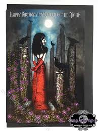 gothic greeting card happy birthday my queen of the night