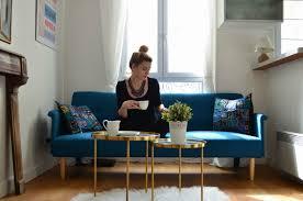 canap petit salon idee de decoration vintage et design pour un petit appartement à