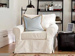 slipcover for chair slipcovers for chairs ottomans and more hgtv