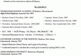 sample college admissions resume college admission resume top