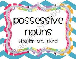 80 best nouns images on pinterest singular possessive