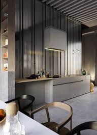 design awesome grey contemporary industrial kitchen inspiration