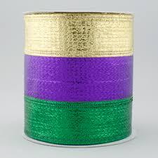 mardi gras material 4 metallic stripe ribbon mardi gras 10 yards rg01404yn